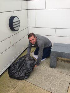steven burne volunteering at manchester house