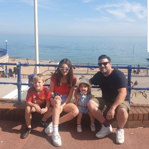 family at brighton beach