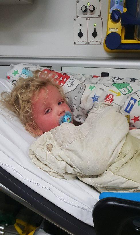 harry with kawasaki disease in hospital